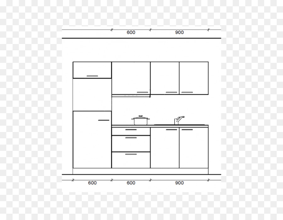 File Cabinets Technical drawing White Diagram - design png download