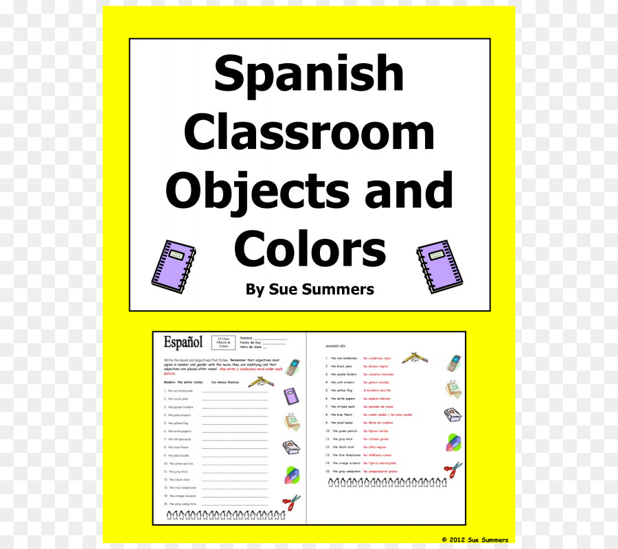Classroom Spanish Object Pronoun Worksheet Word Png Download 800