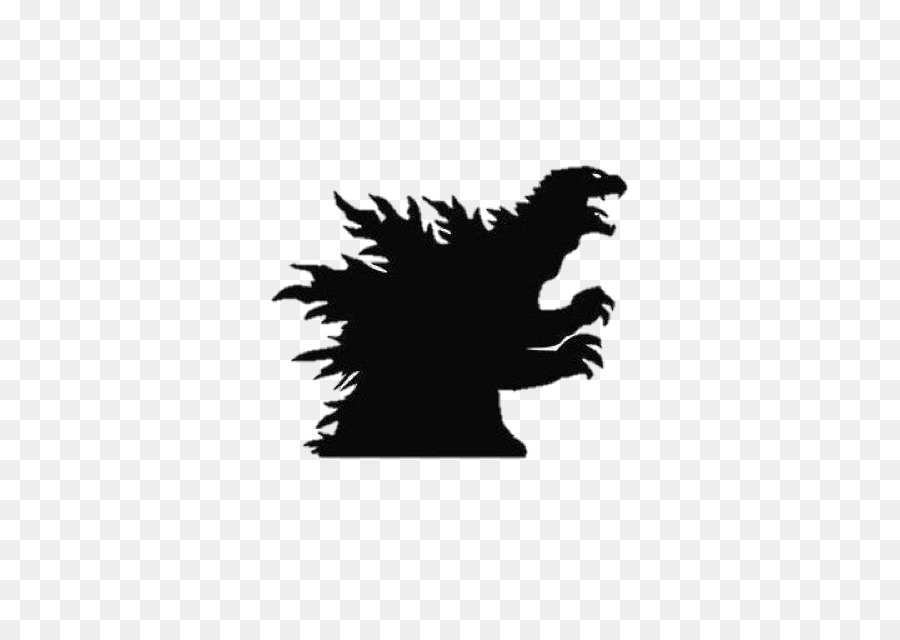 godzilla wall decal sticker - silhouette monster png download - 625