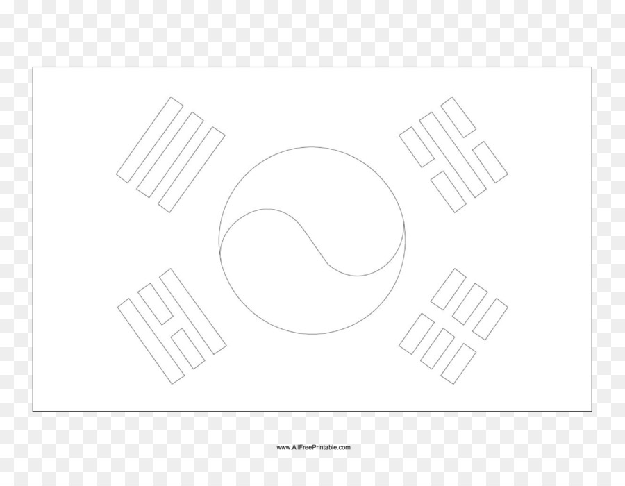 Paper White South Korea Font Design Png Download 33002550