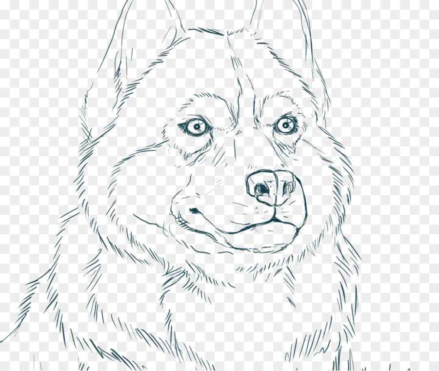 Siberian Husky de Alaska husky Cachorro libro para Colorear - Husky ...