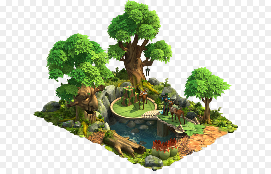 Elvenar Forest Glade Tree Vegetation