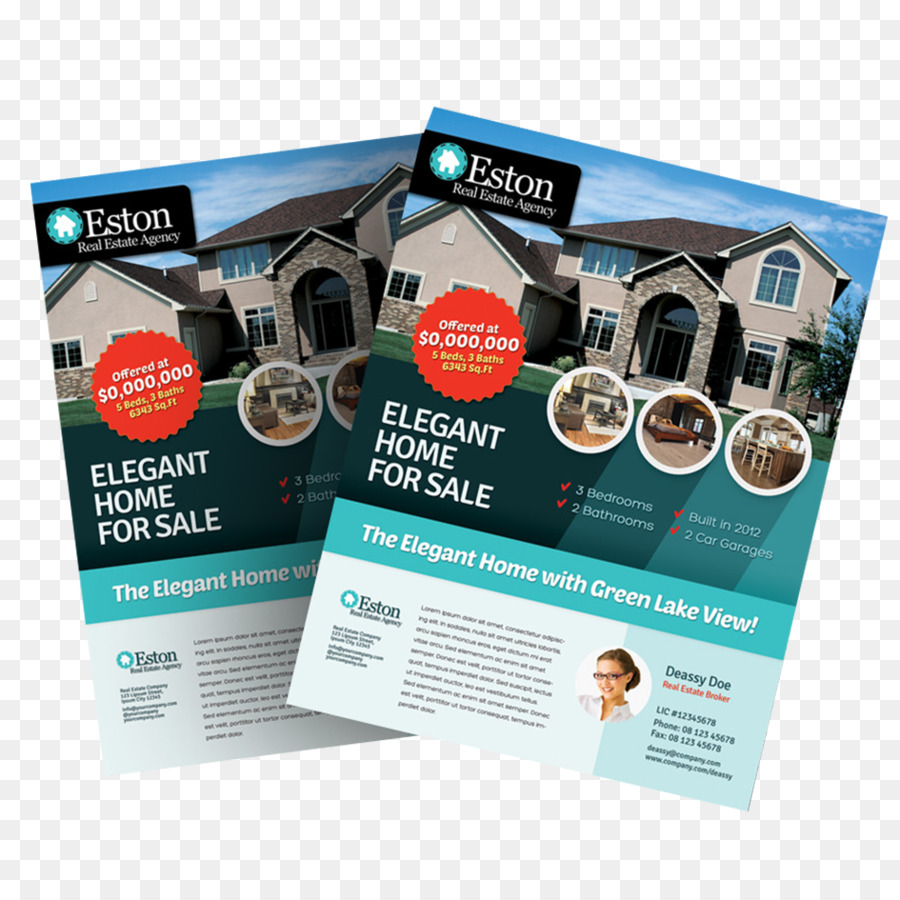 Brochure Real Estate Flyer Template House Flyer A4 Png Download