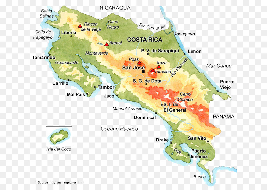 Liberia San José Stone spheres of Costa Rica Location Map - map png ...