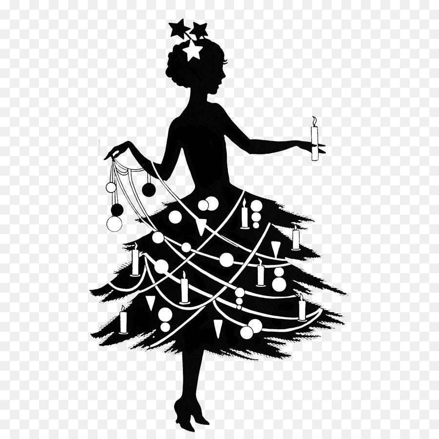 Bilder Weihnachten Kostenlos Schwarz Weiß.Silhouette Schwarz Und Weiß Weihnachten Royalty Free Clipart