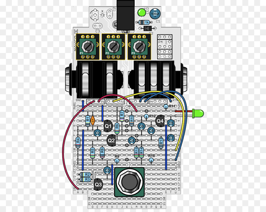 effects processors pedals, wiring diagram, guitar, technology,  microcontroller png