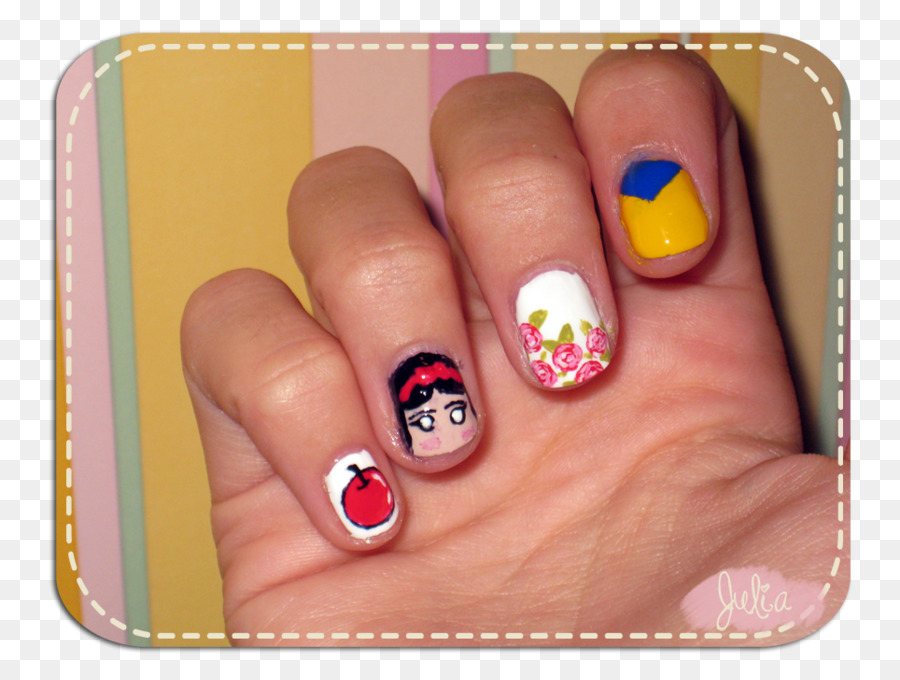 Nail Art Manicure Snow White Nail Polish Nail Png Download 964