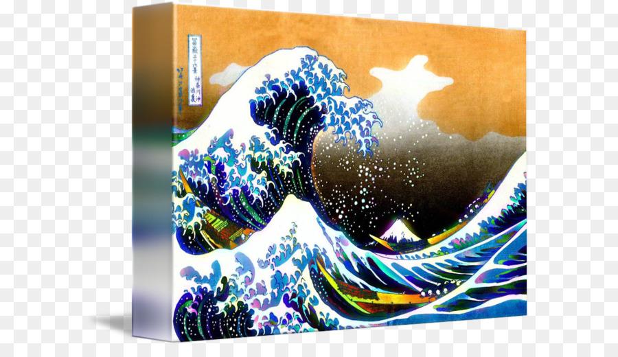 Die Große Welle Vor Kanagawa Feinen Wind Klarer Morgen Sumida