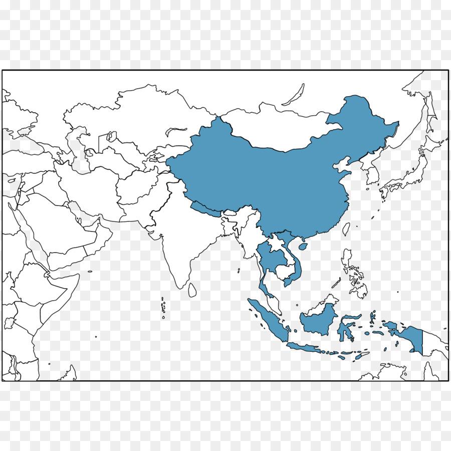 Asia Tenggara Cina Amerika Serikat Peta Kosong Unduh Biru Gambar