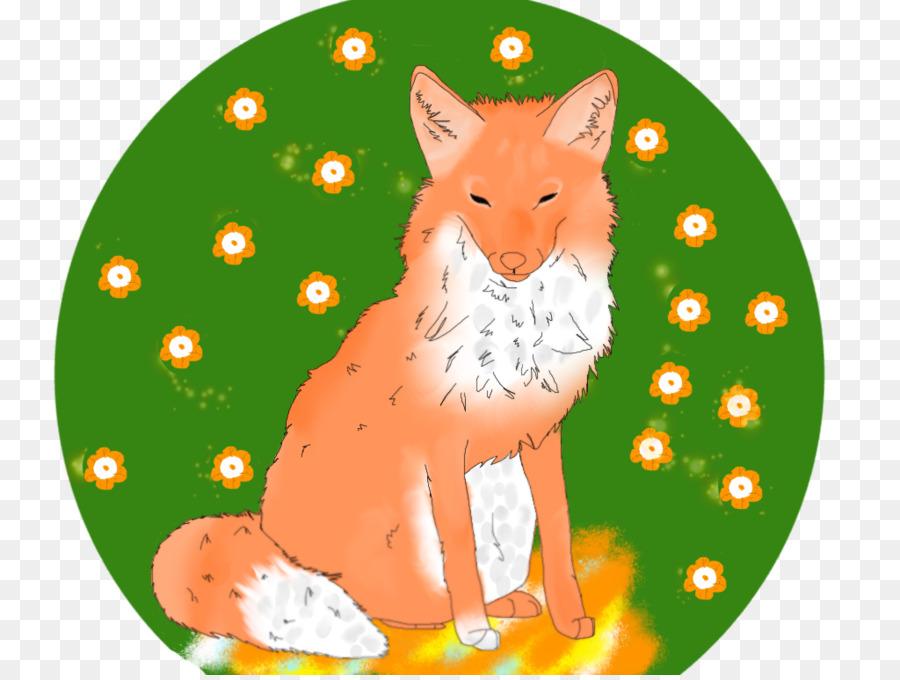 Rubah Merah Ornamen Natal Kumis Kartun Fox Tidur Unduh Anjing