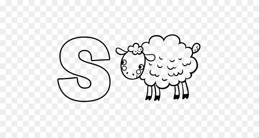 Dibujo de libro para Colorear Pintar - el color de las ovejas ...