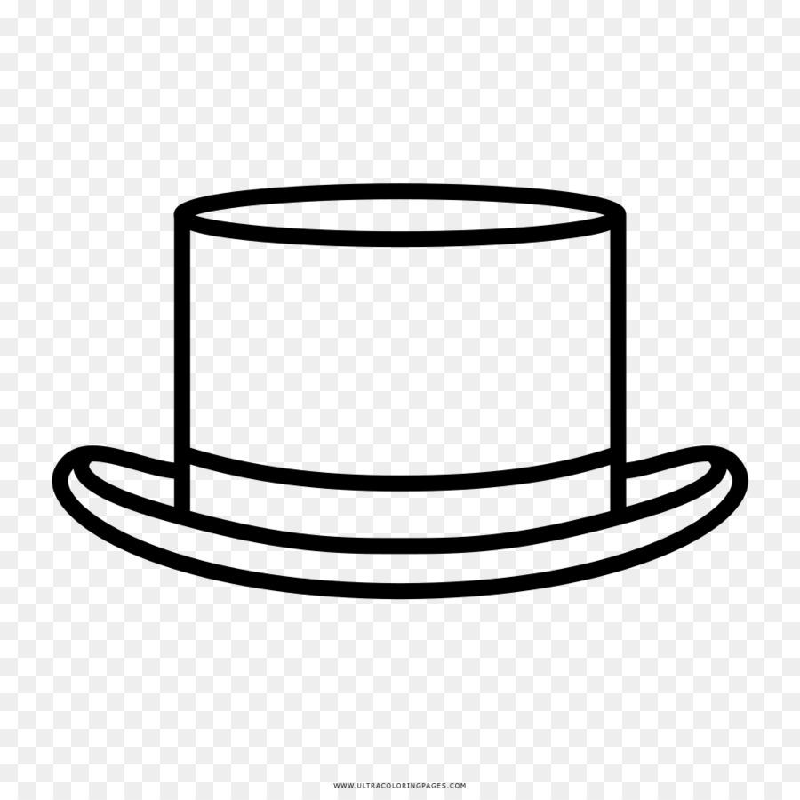 Bombín de Dibujo para Colorear libro Top hat - Sombrero Formatos De ...