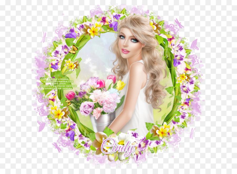 Desain Bunga Bunga Potong Karangan Bunga Panjang Rambut Bunga