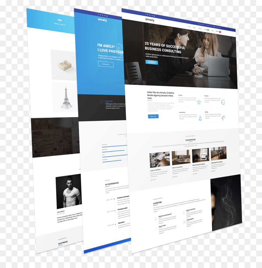 Diseno Web Responsive Plantilla De Wordpress Joomla Piel Moderno