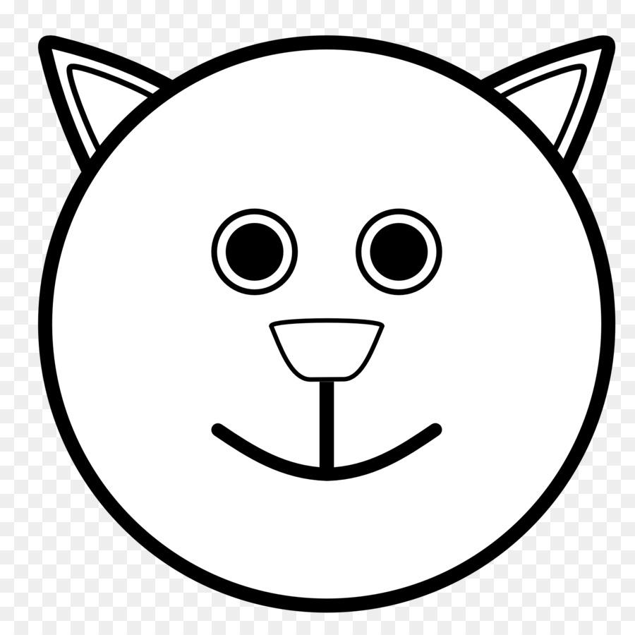 Smiley Buku Mewarnai Wajah Emoticon Smiley Unduh Putih Wajah