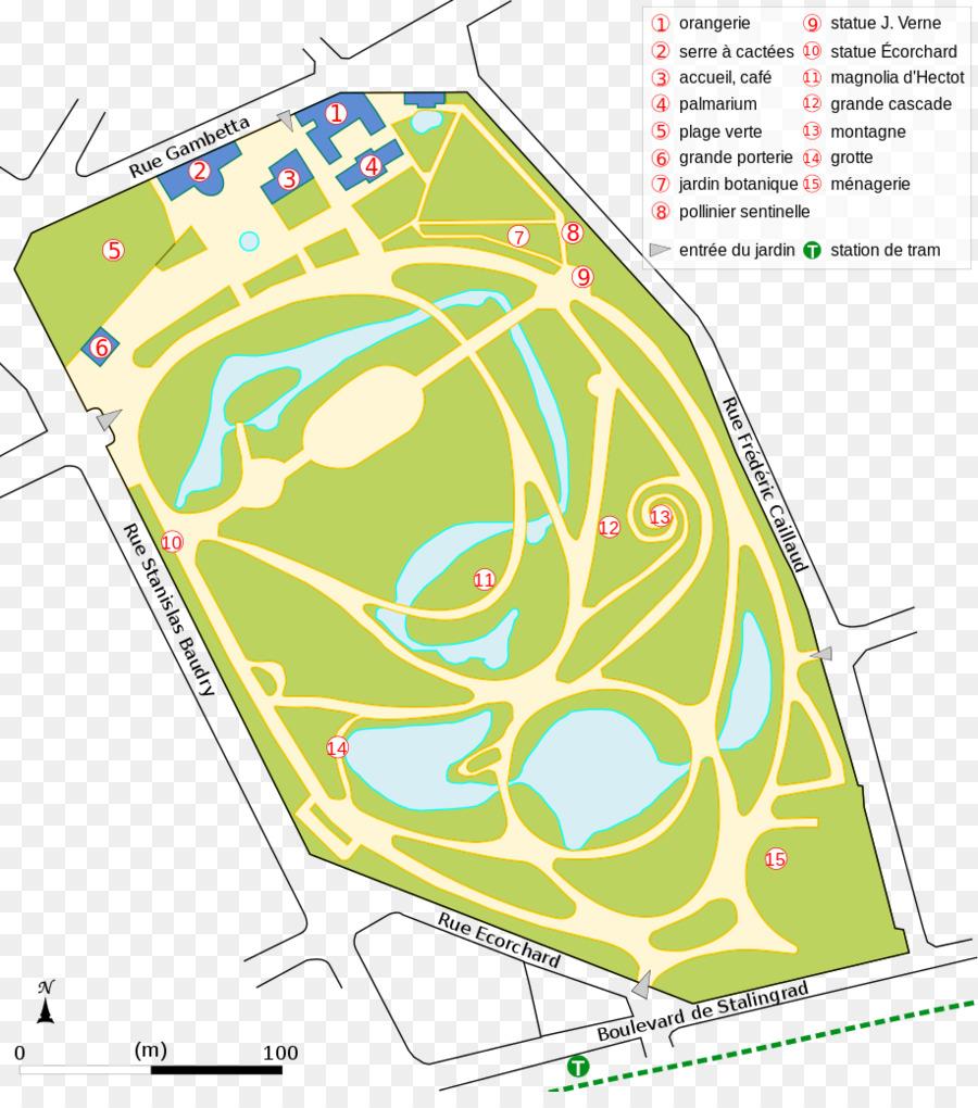 Jardin des plantes de Nantes und Jardin des plantes de Caen ...