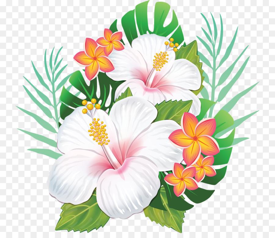 Rosemallows Hawaiian Hibiscus Flower Hawaiian Flower Png Download