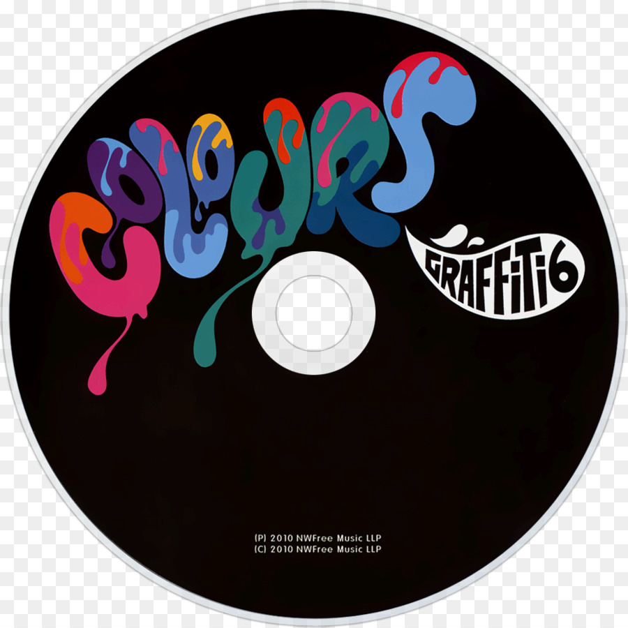 Compact disc colours graffiti6 graphic design itunes cover png download 10001000 free transparent compact disc png download