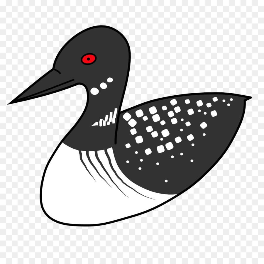duck bird common loon clip art loon png download 1000 1000