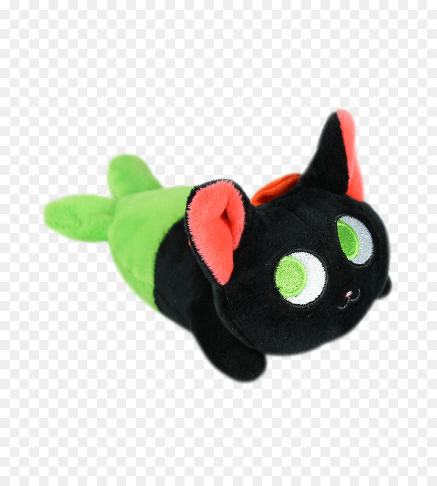 Black Cat Plush Kitten Siamese Cat Purr Kitten Png Download 800