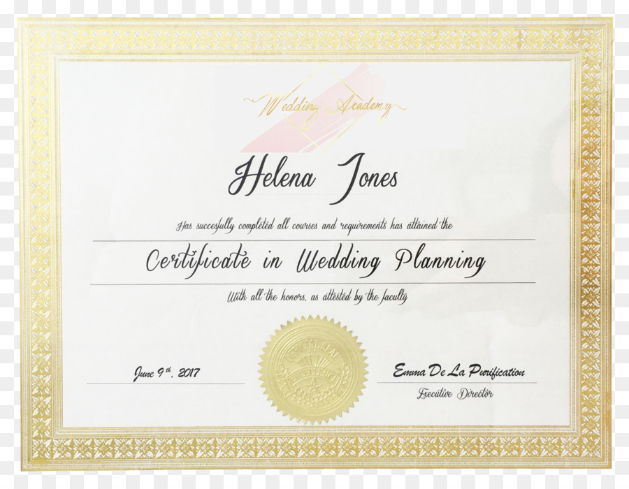 Diploma Wedding Planner Craft Marriage - wedding png download - 2215 ...