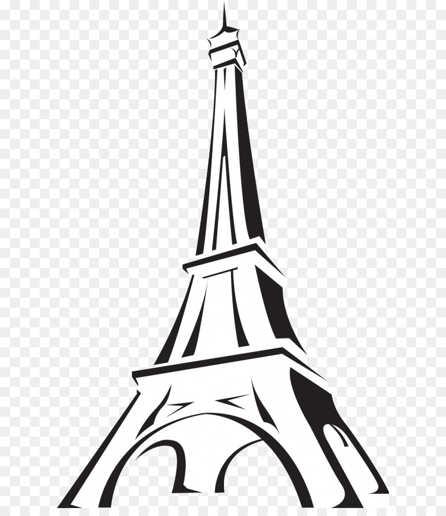 Eiffel tower drawing tower black and white line png