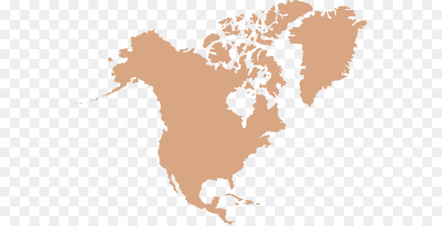 World Map North America Png Download 594 457 Free Transparent