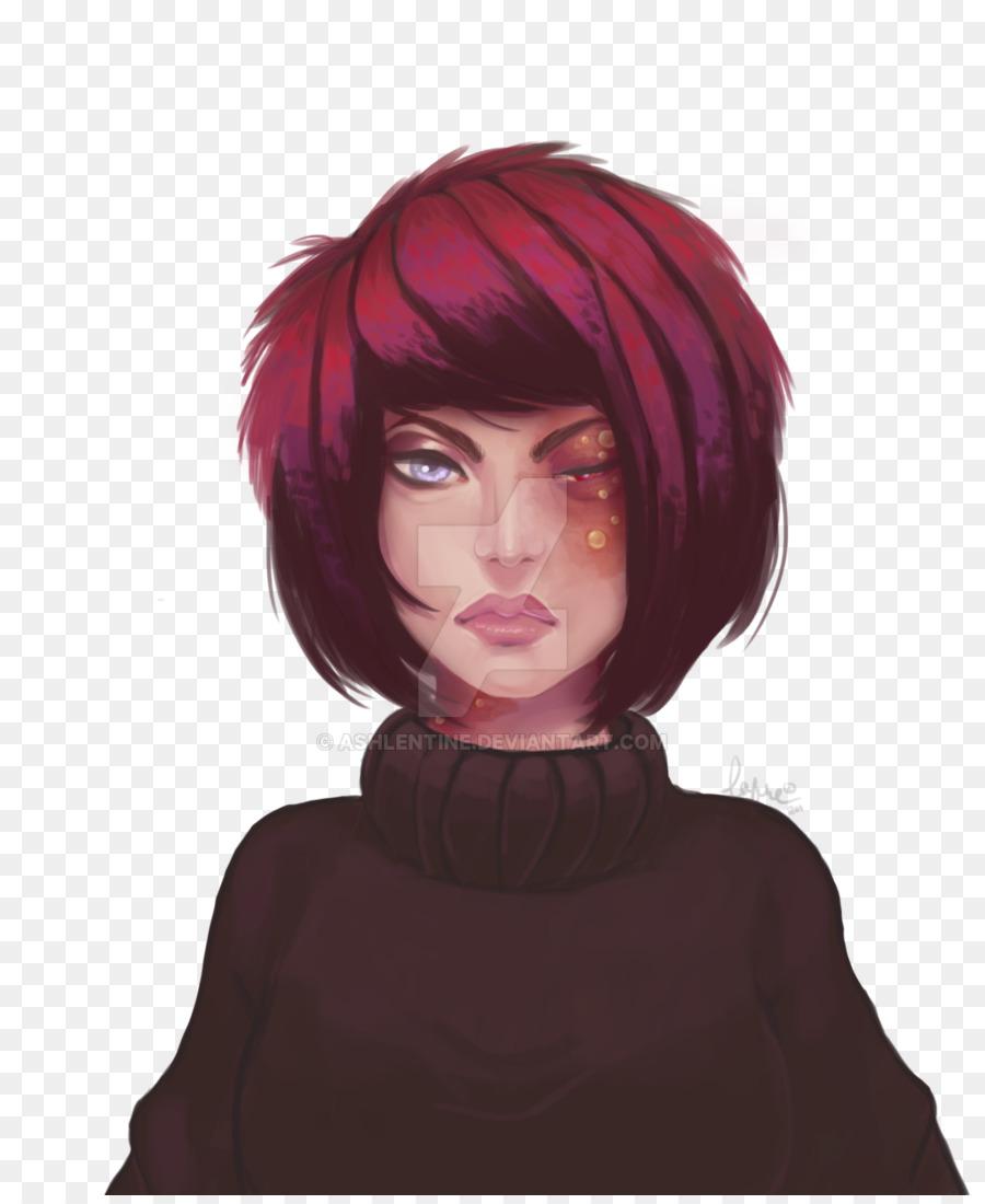 Brown Hair Hair Coloring Purple Purple Png Download 10241242