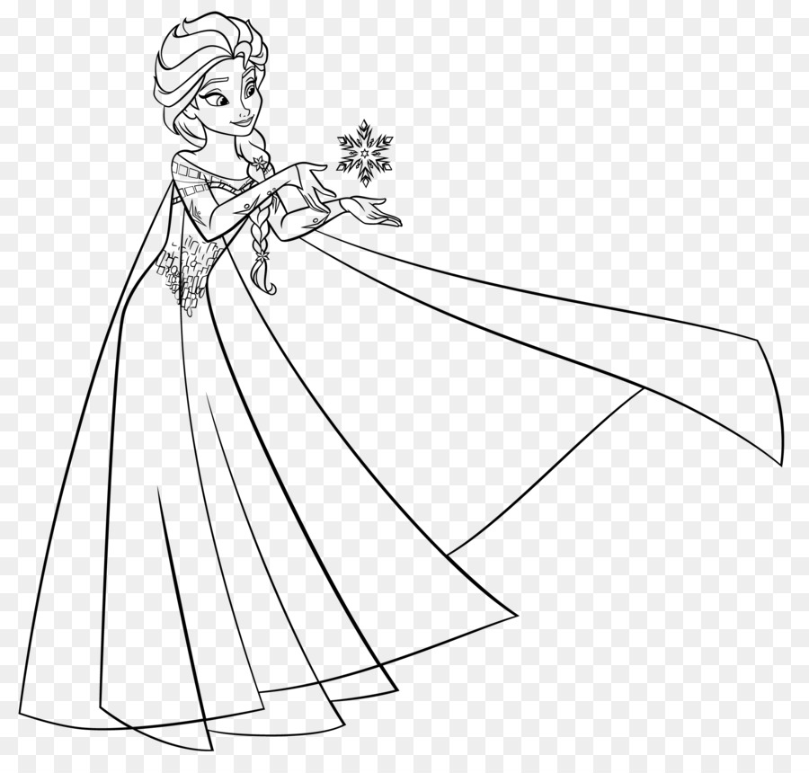 Elsa, Anna, Olaf libro para Colorear Kristoff - elsa png dibujo ...