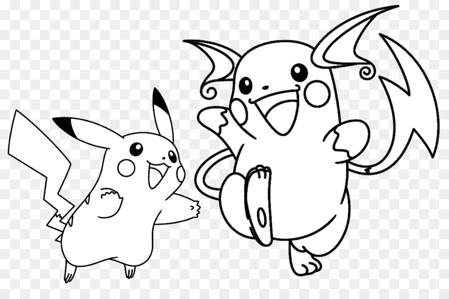 Pikachu un raichu libro para Colorear de Pokemon QUE Pichu - pikachu ...