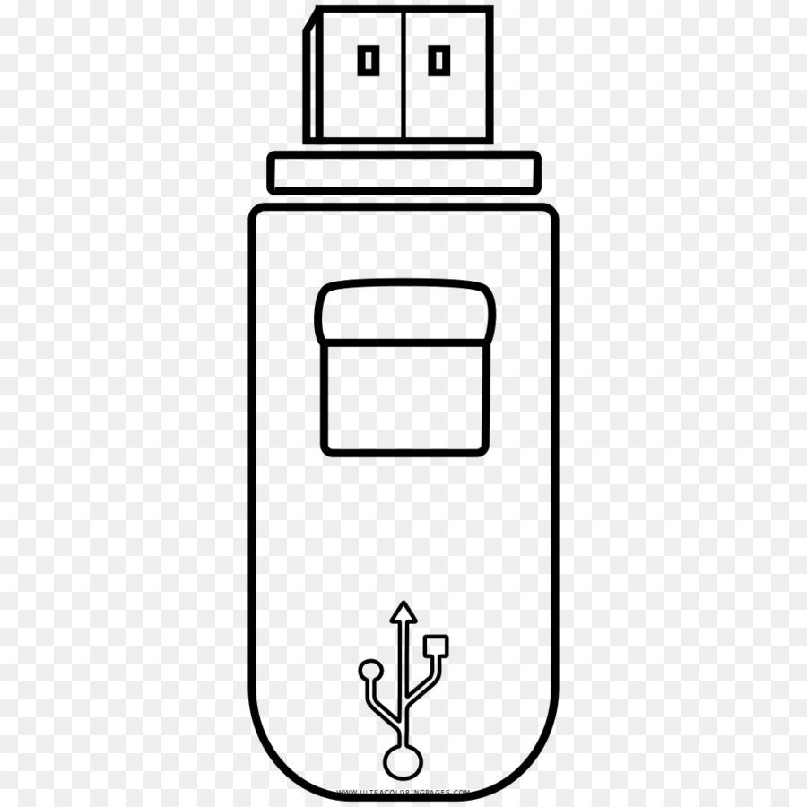 Le Unità Flash Usb Di Disegno Di Archiviazione Dei Dati Del Computer