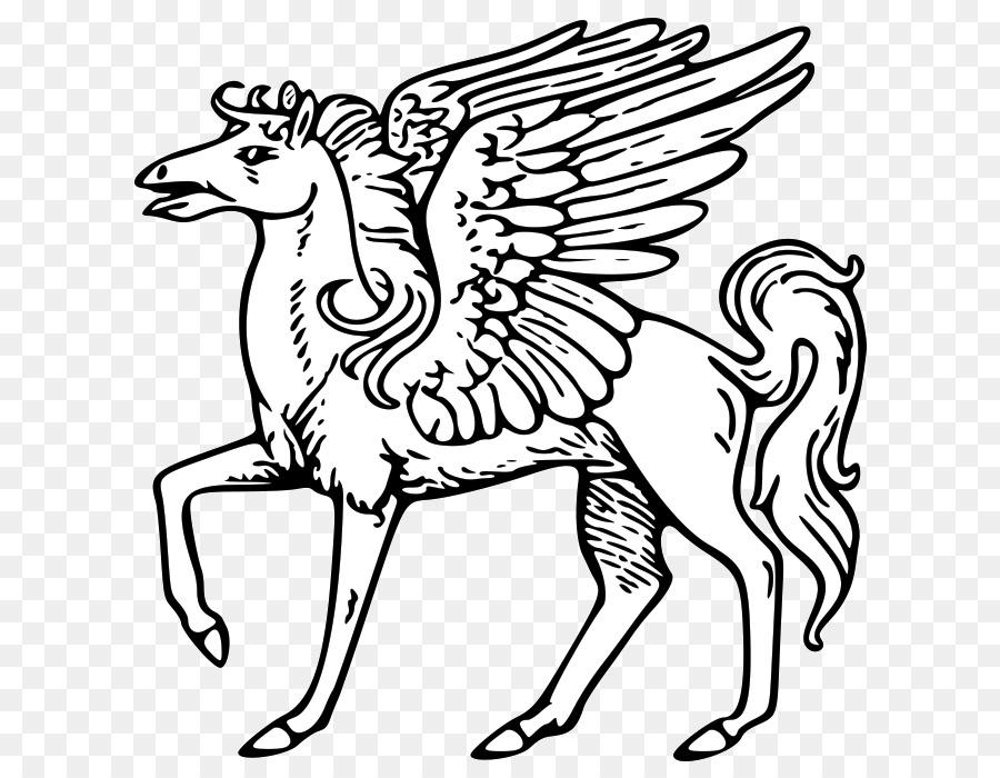 Ausmalbild Einhorn Pegasus Pferd Malbuch Einhorn Png Herunterladen