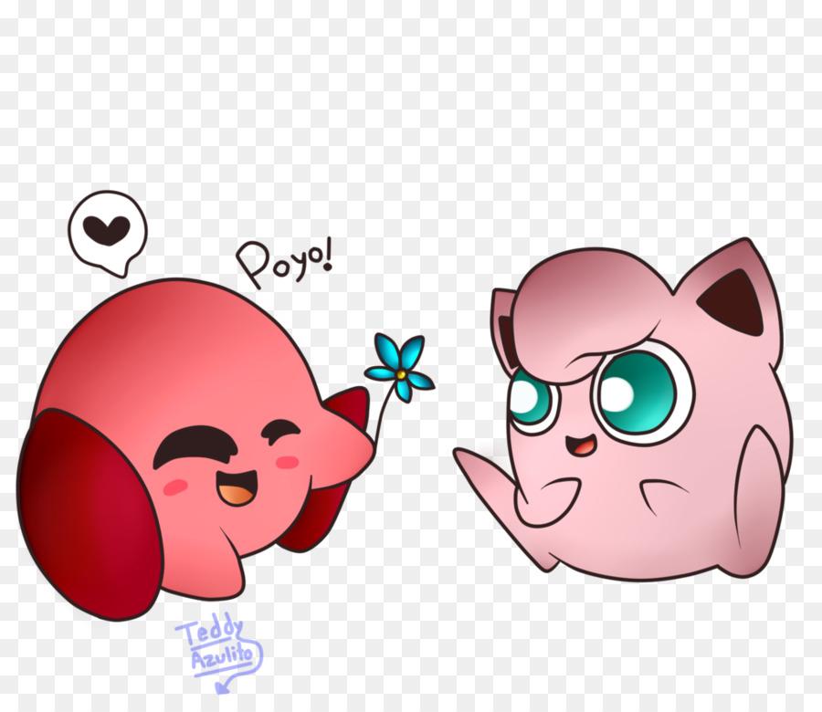 Kirby Jigglypuff Personaje De Pokémon - Kirby png dibujo ...