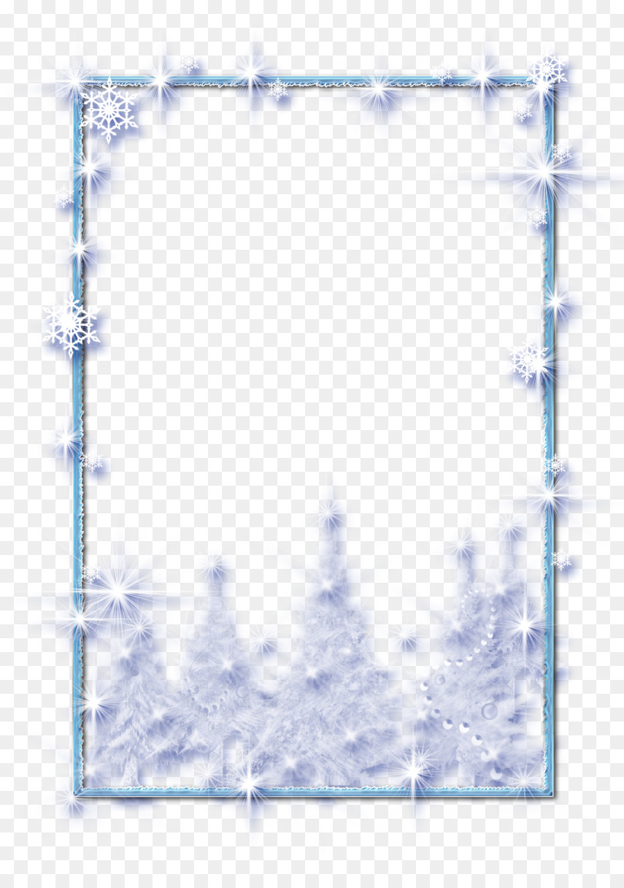 Icicle Picture Frames Blue Winter Clip art - winter png download ...