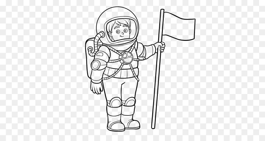 Astronot Buku Mewarnai Ruang Sesuai Dengan Gambar Pesawat Ruang