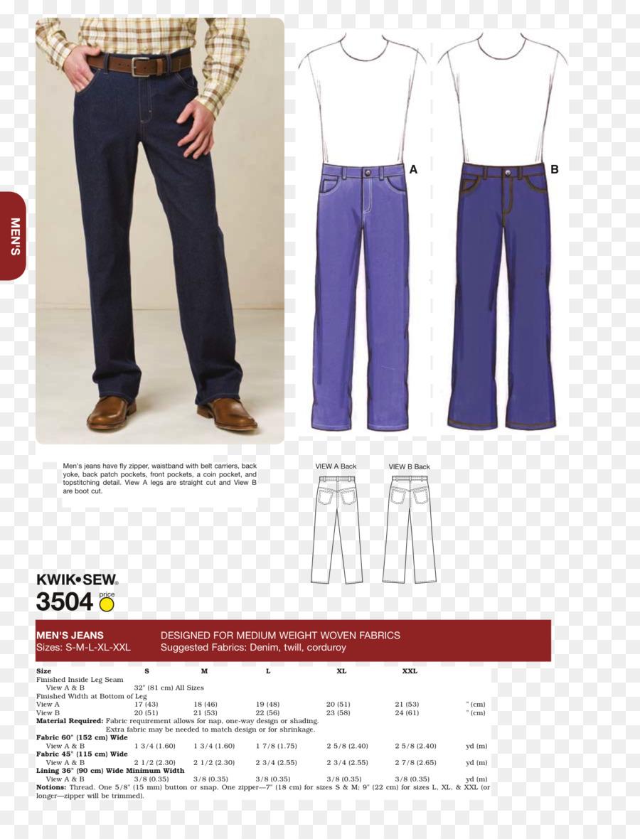 Jeans de Costura de Ropa de tallas Pantalones Patrón - jeans png ...