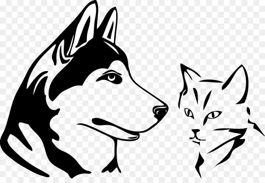 Husky siberiano Dibujo de Alaska husky arte de Línea - husky png ...