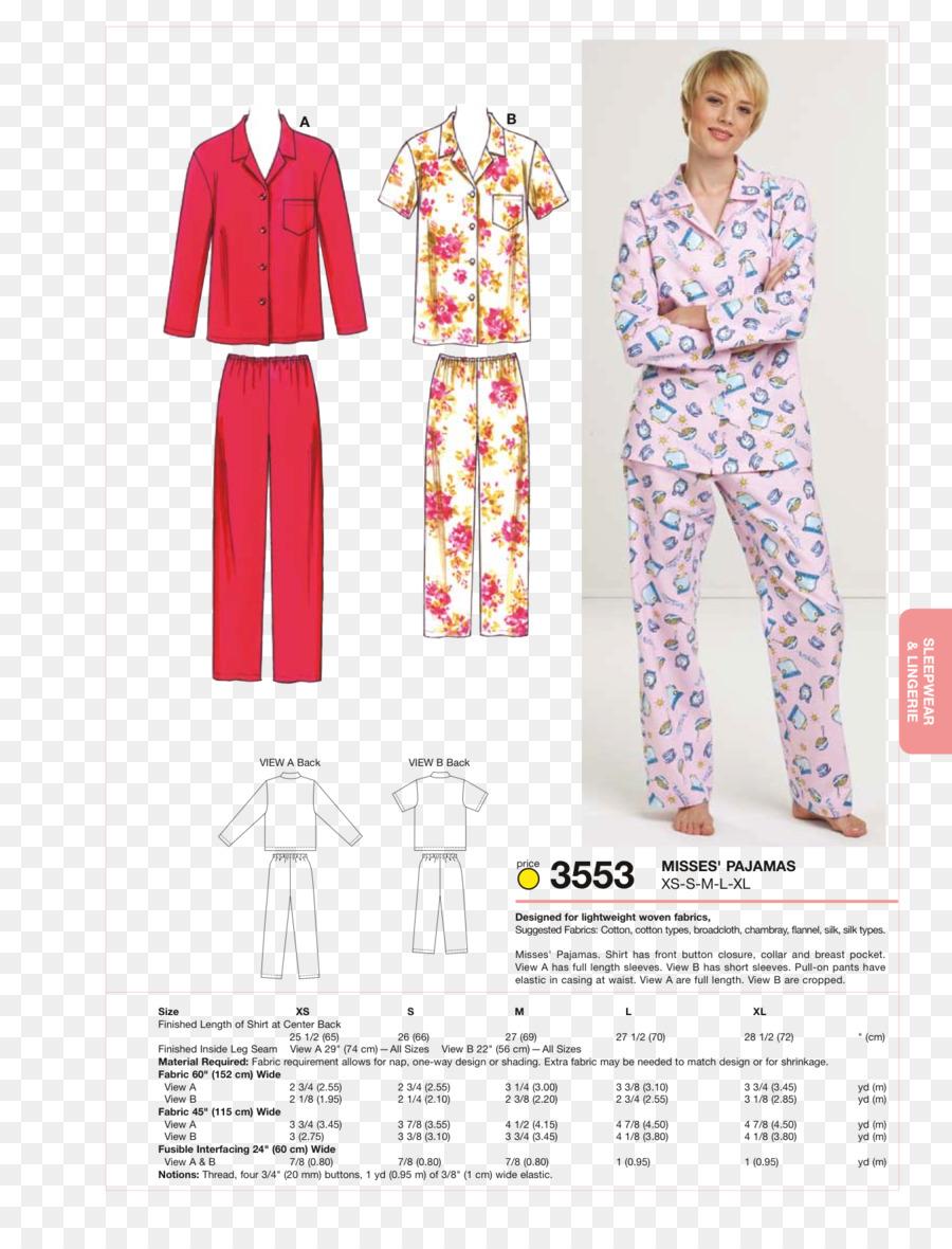 Pijama Bata De Coser De Patrón De Costura - Elementos De Costura ...