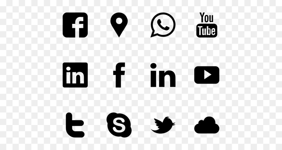 Social Media Icons Background png download - 560*480 - Free