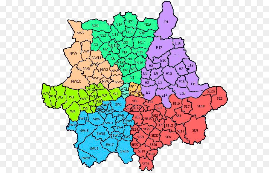 Karte Plz.Sw Plz Gebiet Nw Plz Gebiet Postleitzahlen Im Vereinigten Königreich