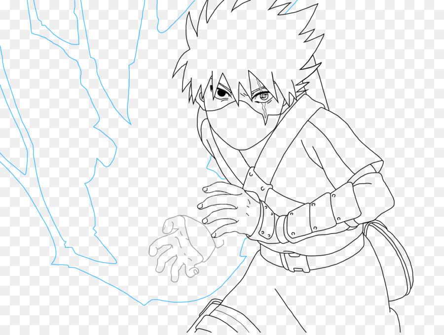 Kakashi Hatake Sasuke Uchiha Naruto Uzumaki Line art - naruto 900 ...