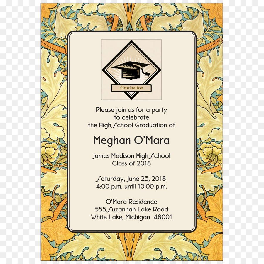 wedding invitation graduation ceremony greeting note cards party