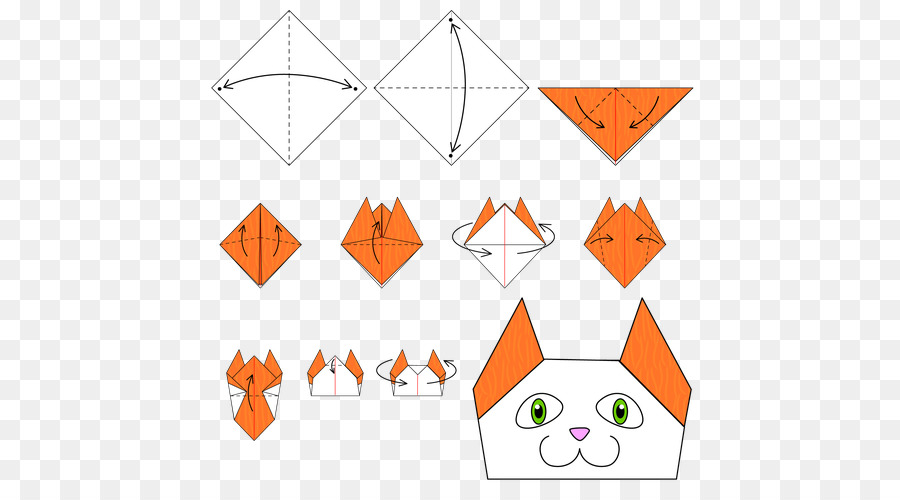 Origami Cat Paper Craft Pattern Cat Png Download 500500 Free