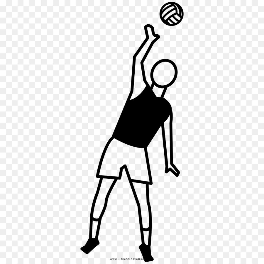 Dibujo de Voleibol de libro para Colorear - voleibol Formatos De ...