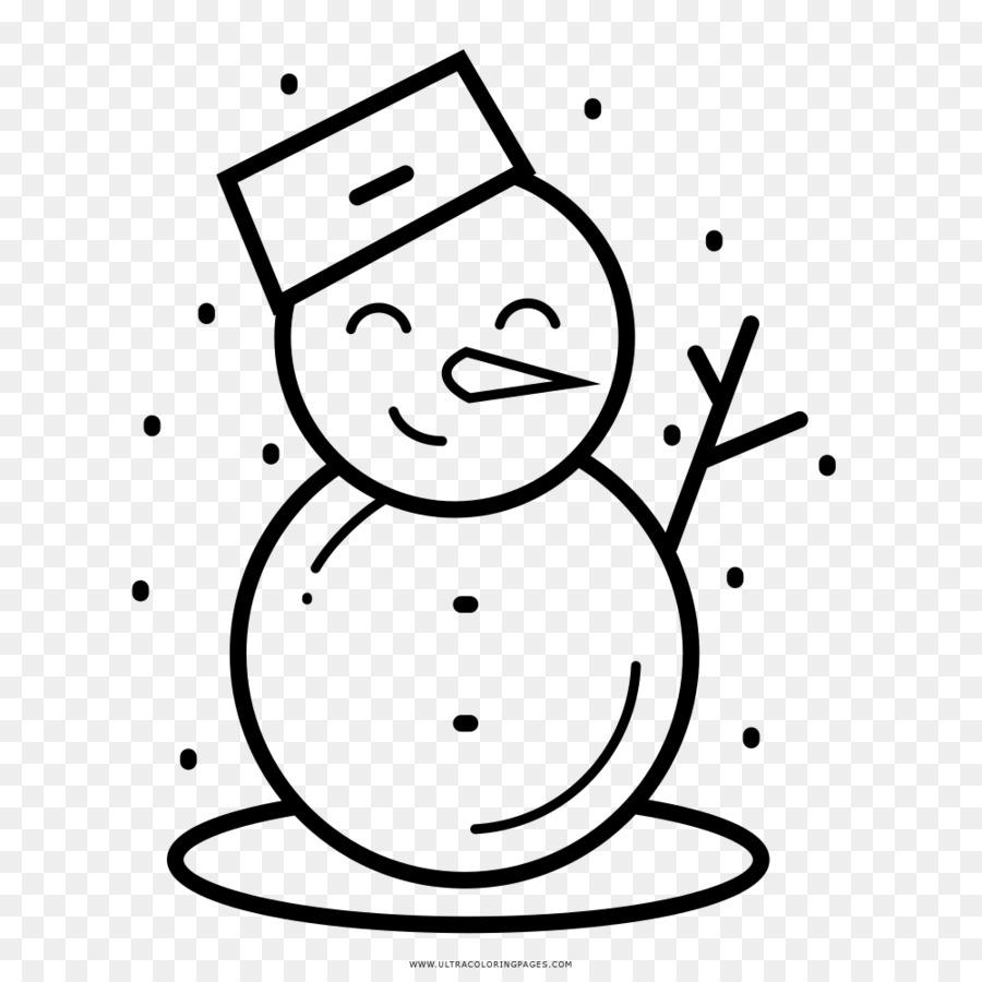 Dibujo de muñeco de nieve para Colorear libro de Invierno - muñeco ...