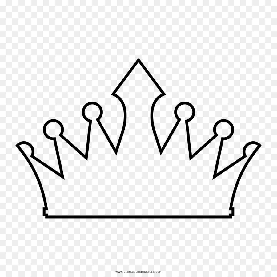 Buku Mewarnai Gambar Mahkota Mahkota Unduh Putih Hitam Teks
