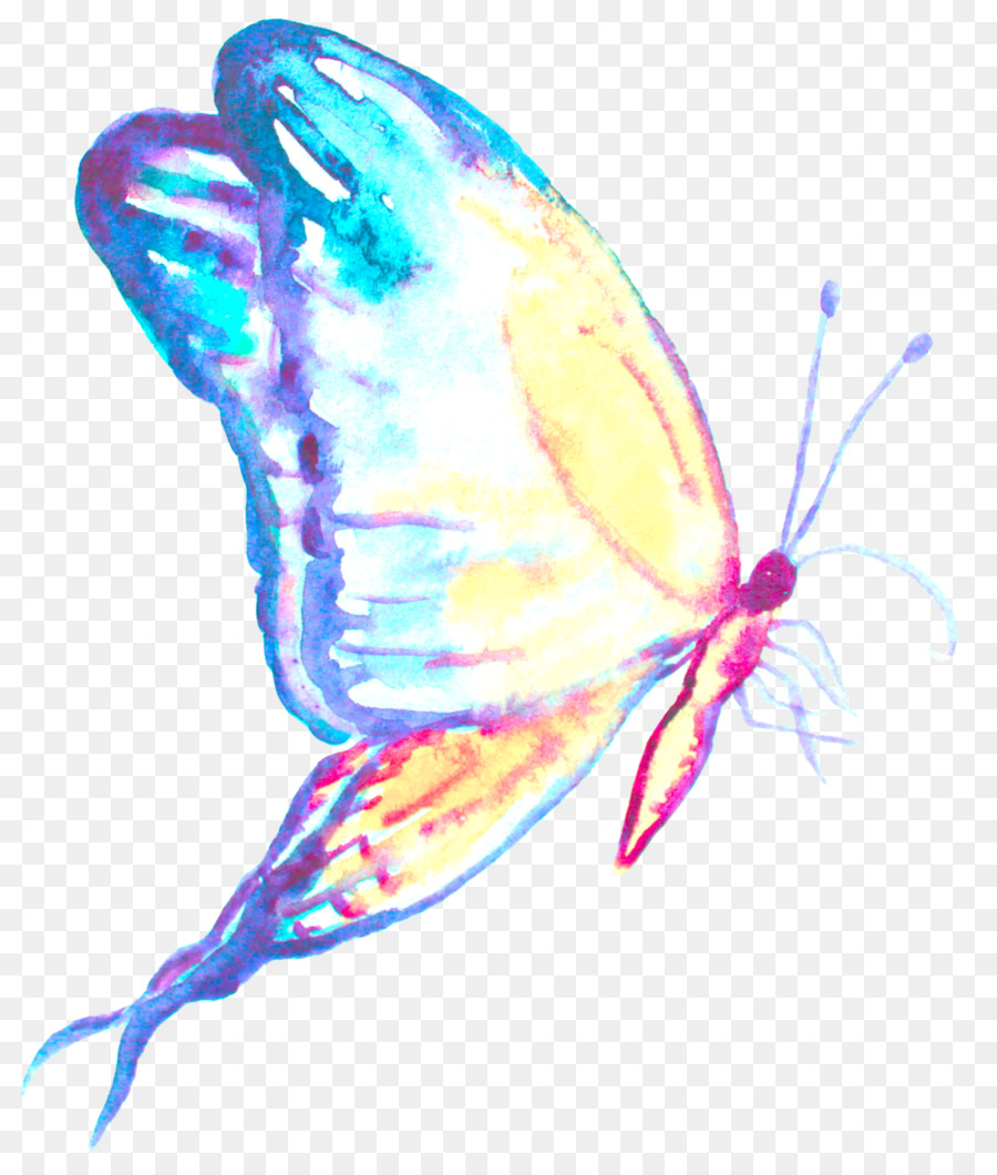 Ulysses Butterfly Tattoo Insect Blue Butterfly Png Download 1000