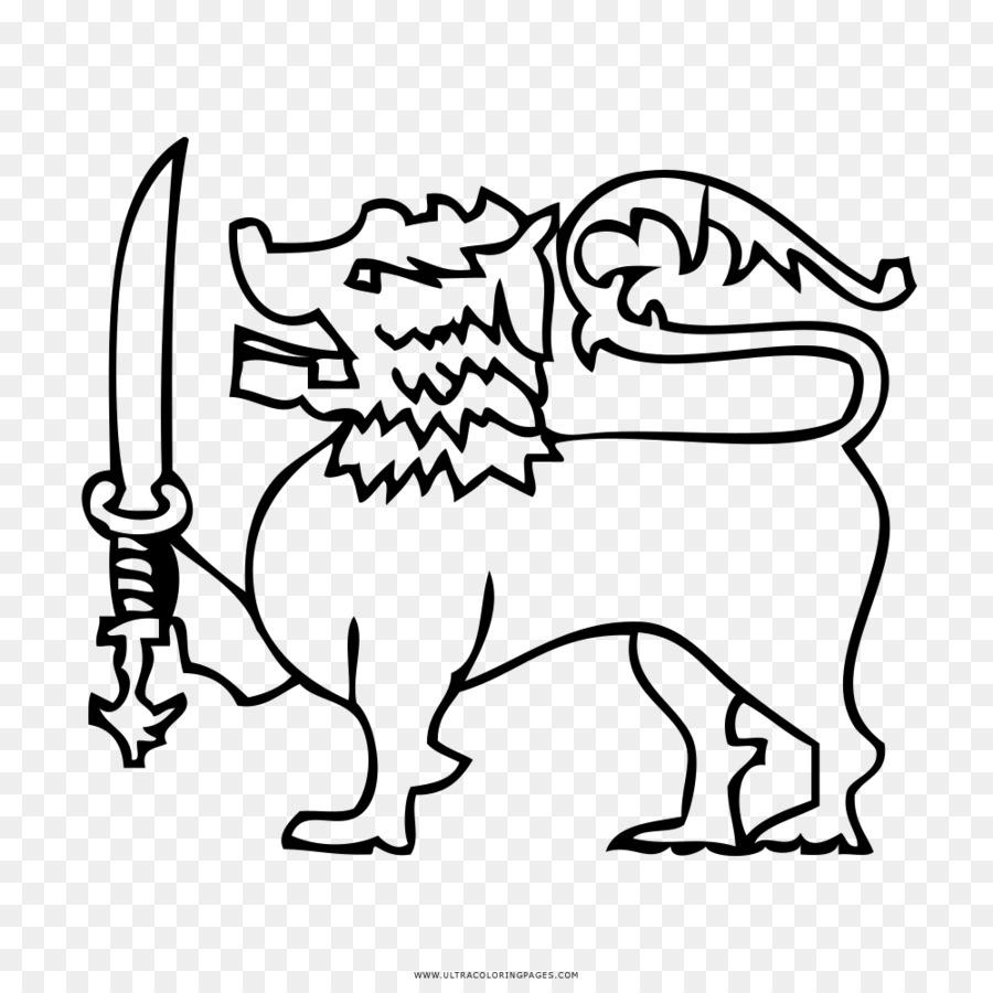Libro para colorear Bandera de Sri Lanka Bandera de Sri Lanka ...