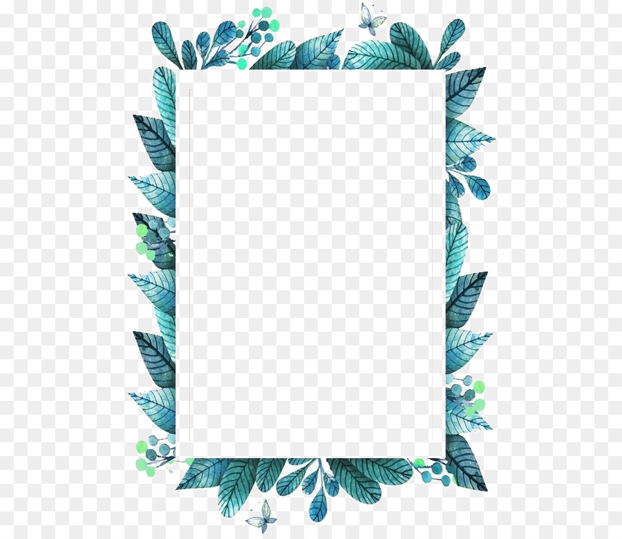 Picture Frames Film frame - green leaf frame title Formatos De ...