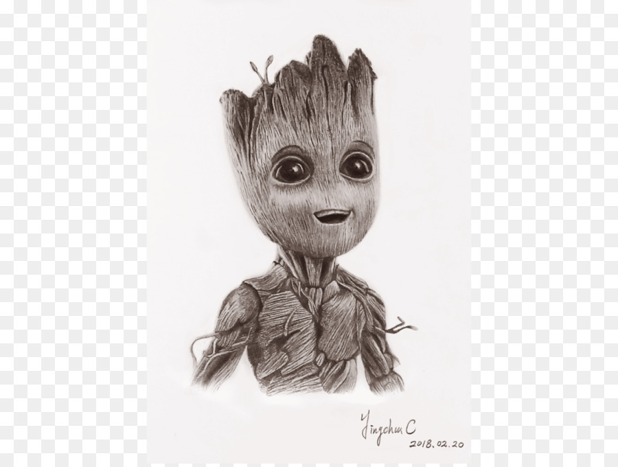 Mammal Fur Character White Fiction Baby Groot Png Download 1200